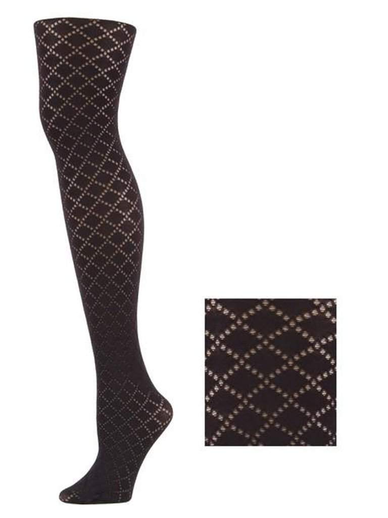 Lady's Dekota Checkered Micro Dots Design Fashion Tights by My100Brands - My100Brands