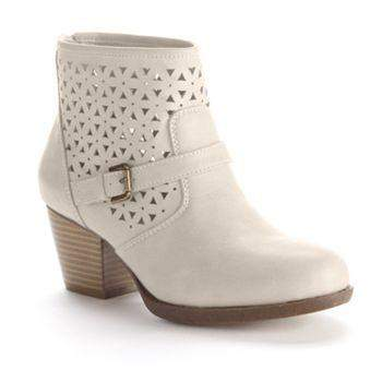 Womens Cutout Ankle Booties by My100Brands - My100Brands