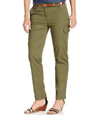 Tommy Hilfiger Skinny-Leg Cargo Pants by Tommy Hilfiger - My100Brands