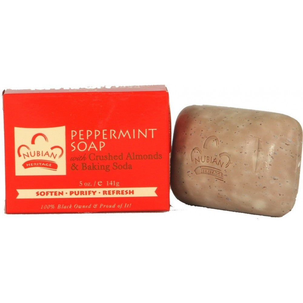 Peppermint Soap - 5 oz by Nubian Heritage - My100Brands