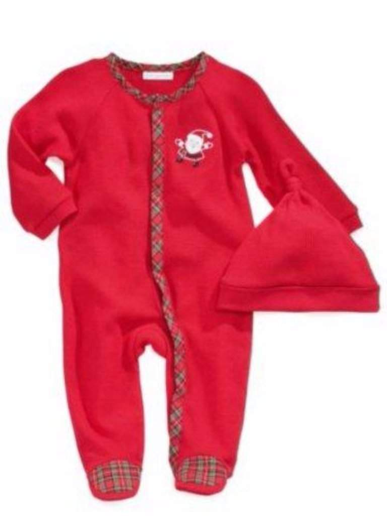Infant Christmas Outfit Red Thermal Santa Sleeper & Hat by My100Brands - My100Brands