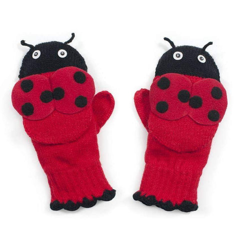Kidorable Knitted Ladybird Gloves by Kidorable - My100Brands