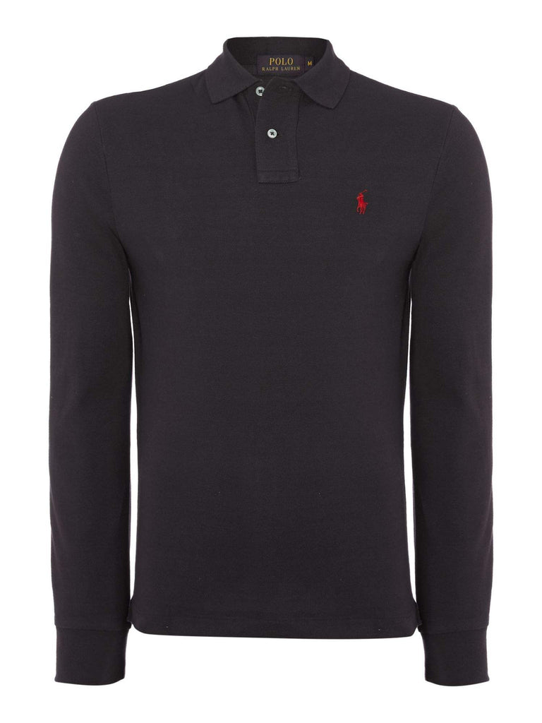 0b00f4b04f3 Polo Ralph Lauren Black Long Sleeve Slim Fit Polo Shirt by Ralph Lauren -  My100Brands