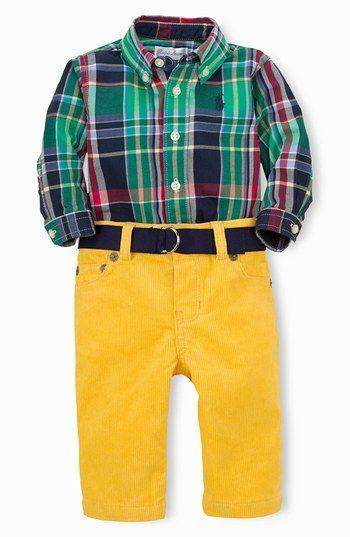 Ralph Lauren Boys' Shirt, Pants and Belt Set by Ralph Lauren - My100Brands