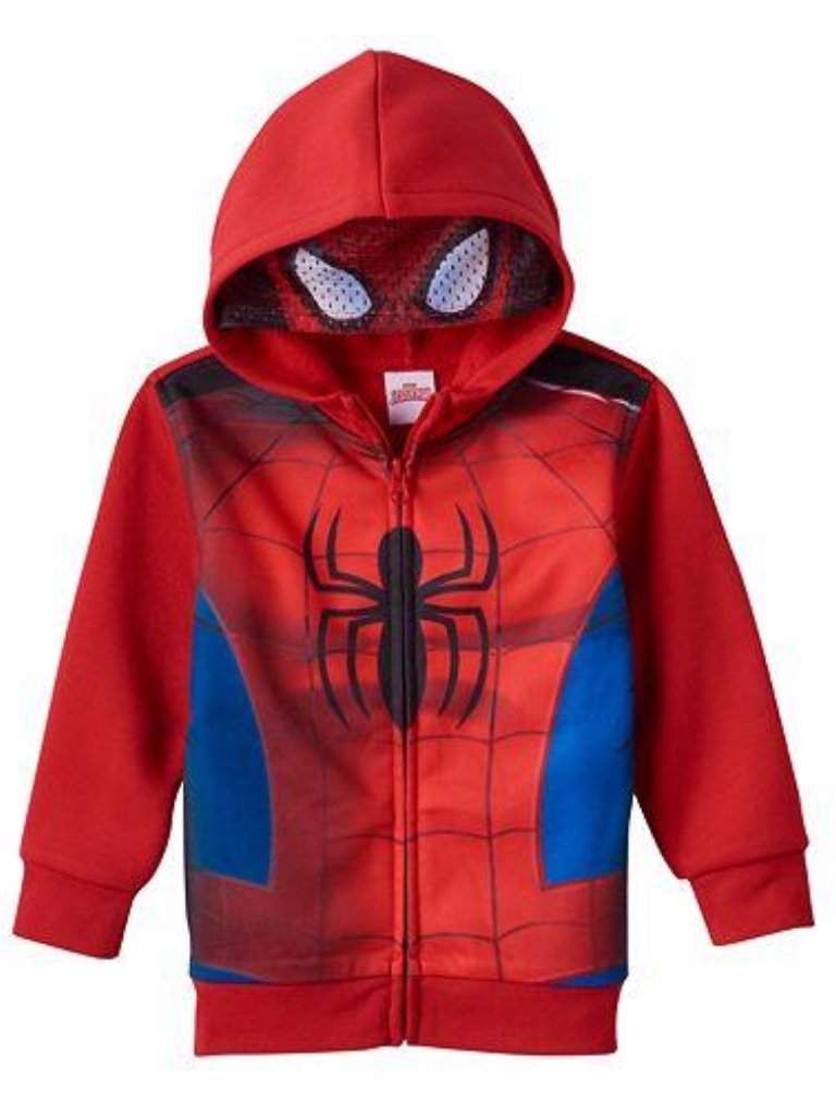 Boy's Marvel Spider-Man Eye Mask Hoodie by My100Brands - My100Brands