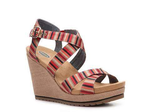 Dr. Scholl's Women's Savory Red Stripe Sandals by Dr. Scholl's - My100Brands