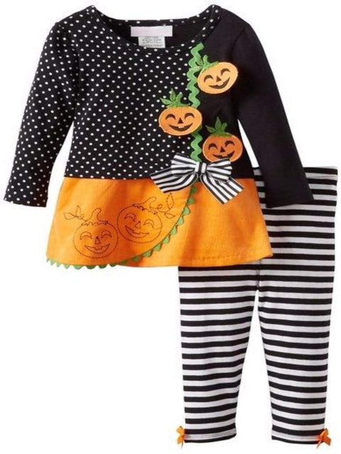 Bonnie Jean Girl's Jack O Lantern Leggings Set by Bonnie Jean - My100Brands