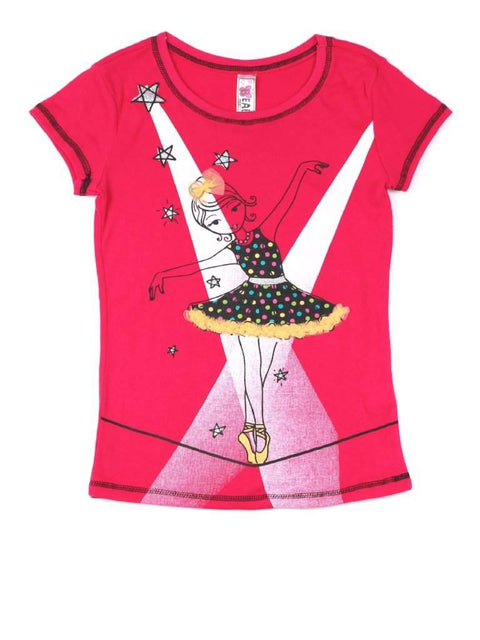 Beautees Girl's Balerine Graphic Tee by Beautees - My100Brands