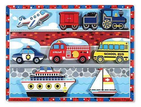 Vehicles Chunky Puzzle - 9 Pieces by Melissa & Doug - My100Brands