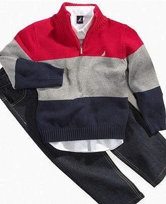 Nautica Kids Set, Boys 3-Piece Stripe Sweater Set by Nautica - My100Brands