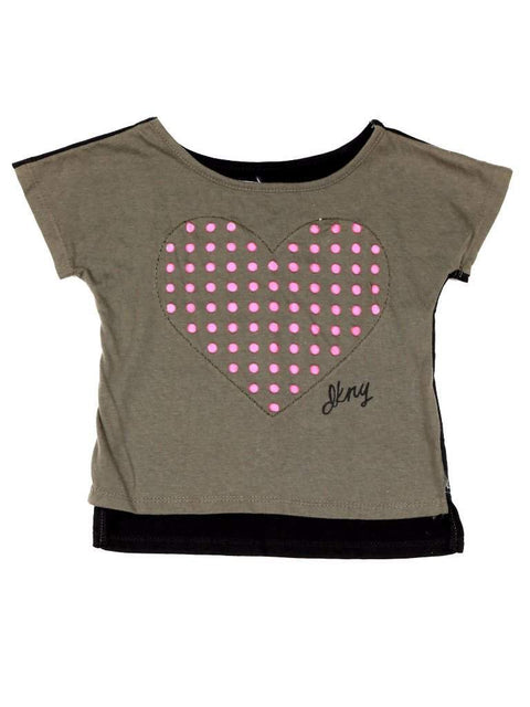 DKNY Girls Heart Punch T-Shirt by DKNY - My100Brands