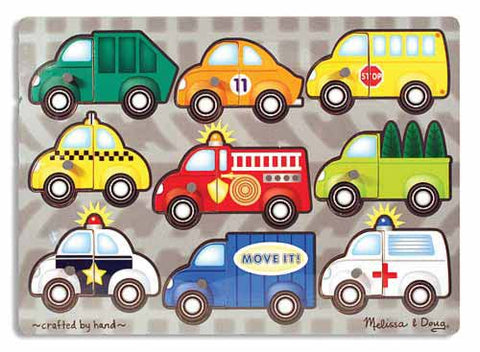 Vehicles Mix and Match Peg Puzzle - 9 Pieces by Melissa & Doug - My100Brands