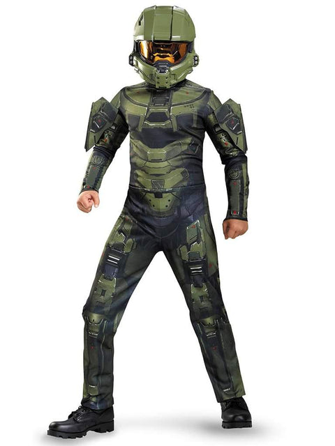 Halo Master Chief Boys Costume Prestige + BONUS!!! by My100Brands - My100Brands