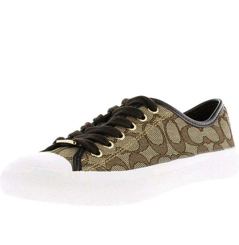 Coach Empire Outline Signature Print Khaki Shoes-My100Brands