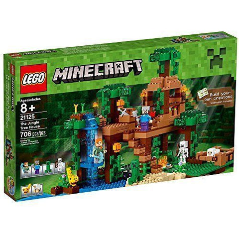 Lego Minecraft 21125 The Jungle Tree House by Lego - My100Brands