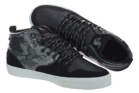 DVS Elm Black Camo Suede Leather Skate Shoes-My100Brands