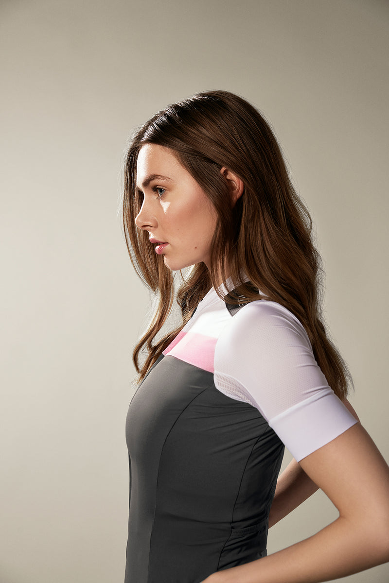 WOMEN'S JULES JERSEY STEEL GREY / WHITE / MISTY ROSE ECO