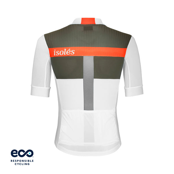JULES JERSEY HS WHITE / OLIVE GREEN ECO