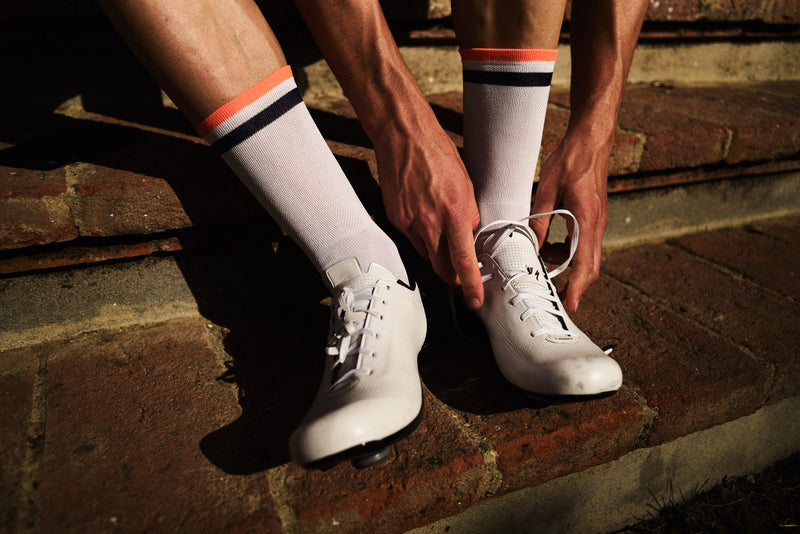 EUGÈNE SOCKS NAVY / ORANGE FLAME