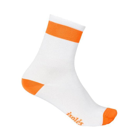 ERNEST SOCKS WHITE / ORANGE FLAME