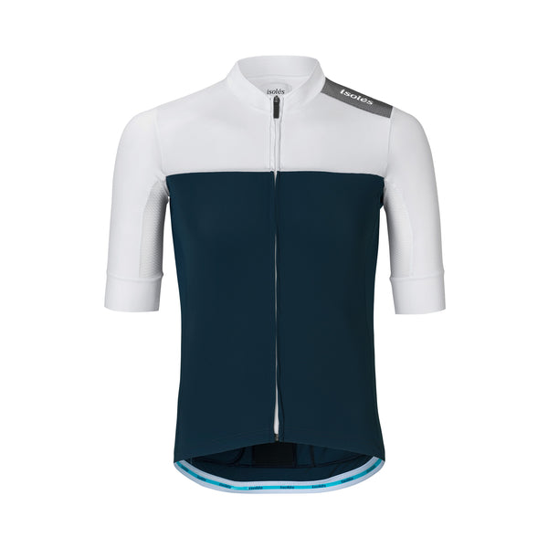 CHARLES JERSEY NUBE BLUE / WHITE