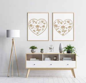 SET OF HEARTS Big & Small Sizes Colour Wall Sticker Wedding Love Valentine's Day / Deco25
