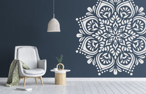 MANDALA FLOWER STAR ROUND Big & Small Sizes Colour Wall Sticker Oriental Shabby Chic Romantic / M25