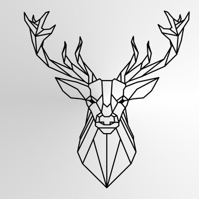 GEOMETRIC DEER Sizes Reusable Stencil Animal Modern Contemporary Style 'Geo1'
