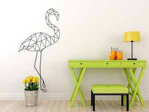Geometric Flamingo Various Sizes Colour Wall Sticker Modern Style Wall Decor / GEO4