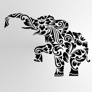 MOHENDI ELEPHANT MANDALA Reusable Stencil A3 A4 A5 & Bigger Sizes Shabby Chic / Animal3