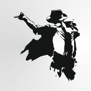 Michael Jackson Reusable Stencil Big Sizes Wall Decor Modern Style King Of Pop Singer  / Michael1