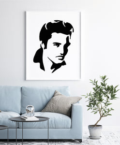Elvis Presley Reusable Stencil Big Sizes Wall Decor Modern Style King Of Rock N Roll Singer  / Elvis