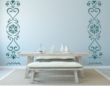 FOLKLORE ORNAMENTS SET Big & Small Sizes Colour Wall Sticker Romantic Style 'Folk1'