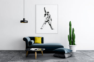 Freddie Mercury Big & Small Sizes Colour Wall Sticker Wall Decor Modern Style King Of Rock QueenSinger / Freddie