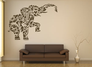 MOHENDI ELEPHANT MANDALA Big & Small Sizes Colour Wall Sticker Shabby Chic Style / Animal3