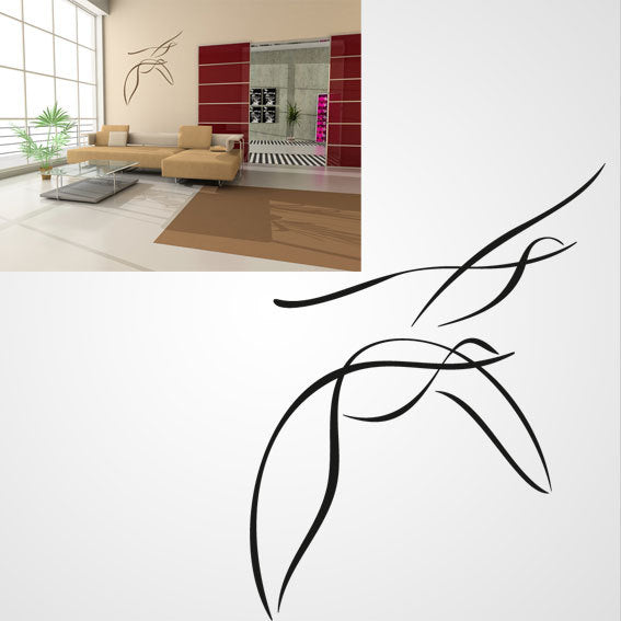 FLYING GOOSES SKETCH Big & Small Sizes Colour Wall Sticker Animal Kids Room Modern 'Kids132'