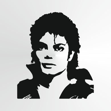Michael Jackson Big & Small Sizes Colour Wall Sticker Wall Decor Modern Style King Of Pop Singer / Michael4