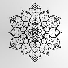 Mandala Flowers Star Round SIZES Reusable Stencil Wall Decor Oriental / M12