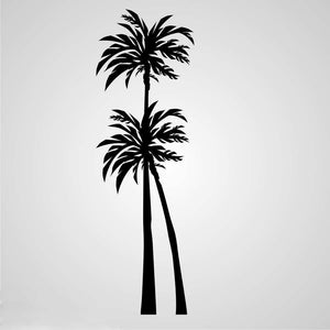 EXOTIC PALMS Sizes Reusable Stencil Modern Oriental Romantic Style 'Tree30'