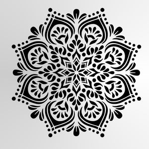Mandala Flower Star Round SIZES Reusable Stencil Wall Decor Oriental / M25
