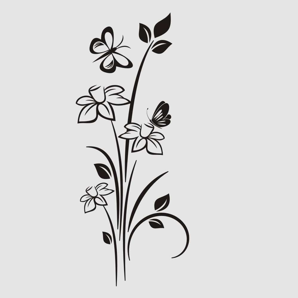 SPRING DAFFODILS BUNCH & BUTTERFLY Sizes Reusable Stencil Shabby Chic 'J47'