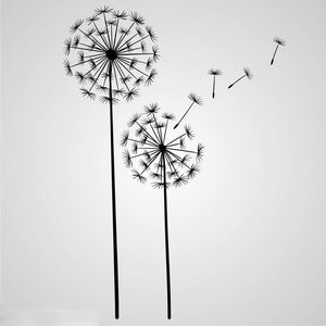BLOWN AWAY DANDELIONS Big & Small Sizes Colour Wall Sticker Shabby Chic Romantic Style 'Flora2'