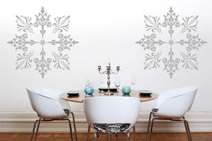 MANADALA STAR ORNAMENT SNOW FLAKE Big & Small Sizes Colour Wall Sticker Oriental Modern 'Deco13'