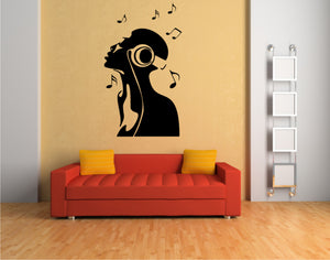 DJ HEAD MUSIC Sizes Reusable Stencil Music Modern Style 'K5'