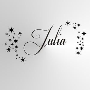 CUSTOM GIRL'S NAME Sizes Reusable Stencil Kids Room Bedroom 'JULIA'