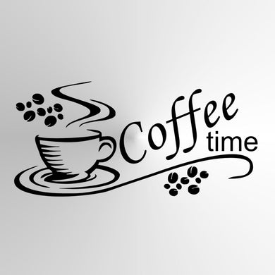 KITCHEN FRESH COFFEE, 'COFFEE TIME' QUOTE Sizes Reusable Stencil Modern Style 'Cafe7'