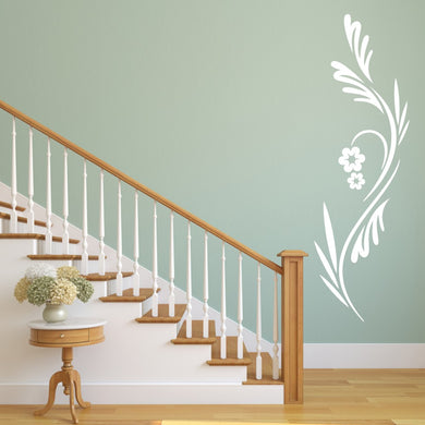 CLIMBER FLOWER Big & Small Sizes Colour Wall Sticker Shabby Chic Oriental Style 'Flora5'