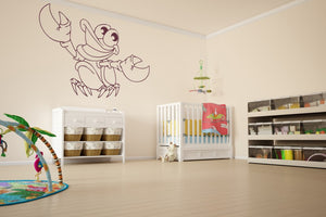 HAPPY CRAB KIDS ROOM Big & Small Sizes Colour Wall Sticker Animal Modern Style 'Crab'