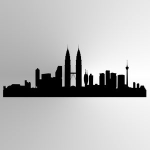 CITY BY NIGHT CONTOUR Sizes Reusable Stencil Oriental Exotic Travel Modern Style 'P17'