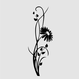 ROMANTIC FLOWER GERBER Sizes Reusable Stencil Shabby Chic Romantic Style 'Flora16'
